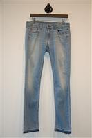 Faded Denim Rag & Bone Slim-leg Jean, size 27