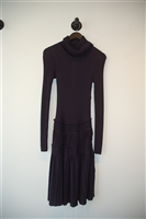 Navy Chanel Sweater Dress, size 6