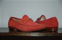 Deep Coral Gucci Loafer, size 8