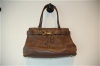 Chocolate Coach Shoulder Bag, size L