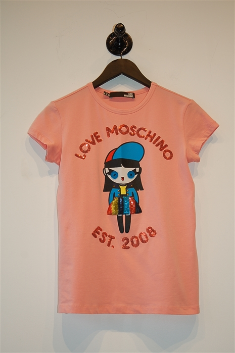 Salmon Moschino - Love T-Shirt, size 2
