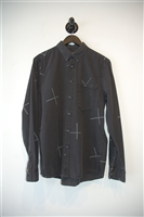 Faded Black Nudie Jeans Button Shirt, size M