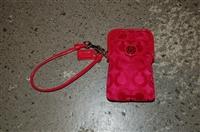 Hot Pink Coach Wristlet, size S