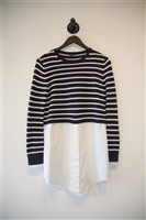 Navy & White Theory Pullover, size XS