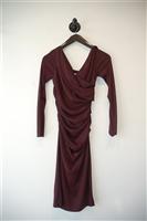Maroon Diane von Furstenberg Sheath Dress, size 2