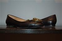 Black Leather Diane von Furstenberg Flats, size 7