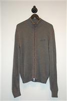 Dark Steel Iceberg Zippered Sweater, size L