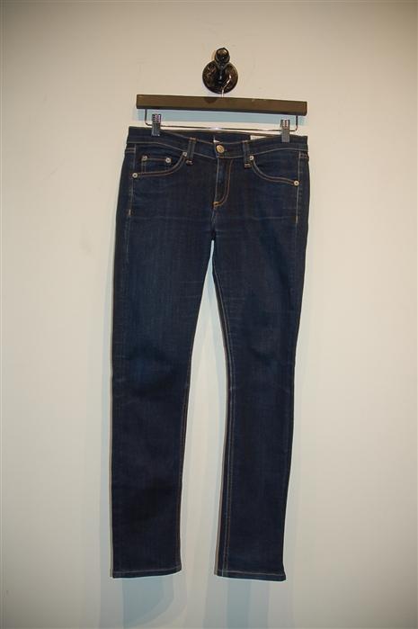 Dark Denim Rag & Bone Skinny Jean, size 26