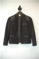 Basic Black Diane von Furstenberg Zippered Jacket, size 2