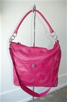 Hot Pink Coach Shoulder Bag, size L