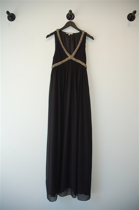 Basic Black Maje Maxi Dress, size M