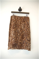 Mixed Browns Cacharel Straight Skirt, size M