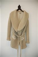 Beige Ann Demeulemeester Sweater Jacket, size 4