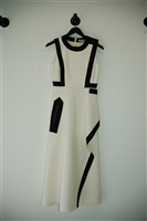 Winter White Sportmax A-Line Dress, size 2