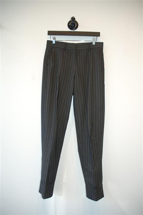 Gray Stripe Marithe et Francois Girbaud Trouser, size S