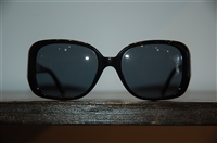 Shiny Black Chanel Sunglasses, size O/S