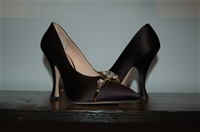 Satin Black Miu Miu Pumps, size 5