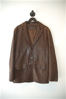 Dark Leather Andrew Marc Leather Jacket, size L