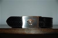 Black Leather Gianni Versace - Vintage Belt, size M