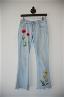 Light Denim Stella McCartney Flare-Leg Jeans, size 25