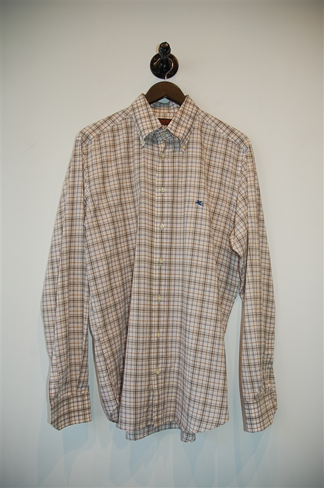 Check Etro Button Shirt, size L