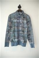 Denim Blue Jeremy Scott x Adidas Track Jacket, size L