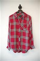 Pink Check No Label Shirt, size S