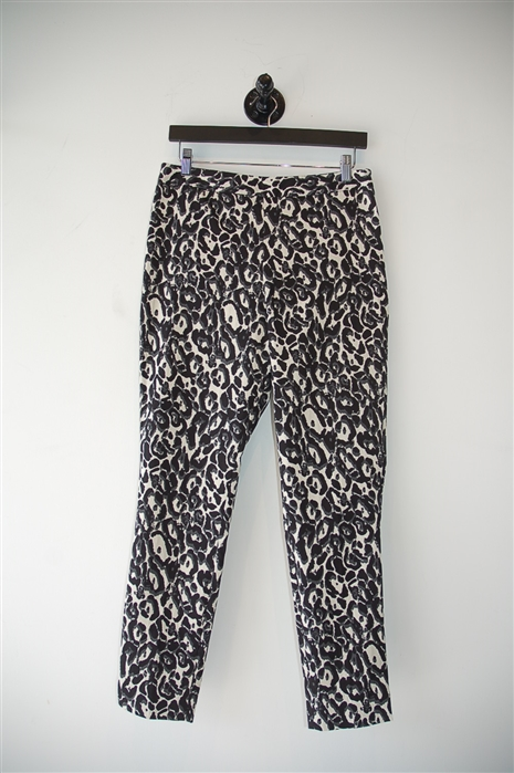 Animal Print Milly Cropped Trouser, size 8