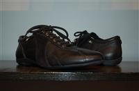 Black Leather Z Zegna Sneaker, size 7.5