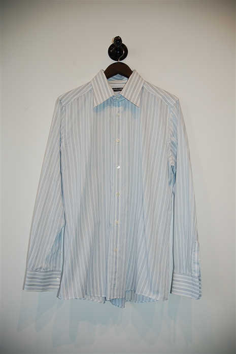 Blue Stripe Dolce & Gabbana Button Shirt, size L
