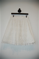 Soft White Alice + Olivia A-Line Skirt, size 10
