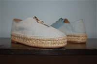 Light Denim Alexander Wang Espadrilles, size 7