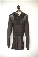 Basic Black Jeremy Scott x Adidas Hoodie, size L