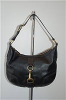 Black Leather Coach Hobo, size M