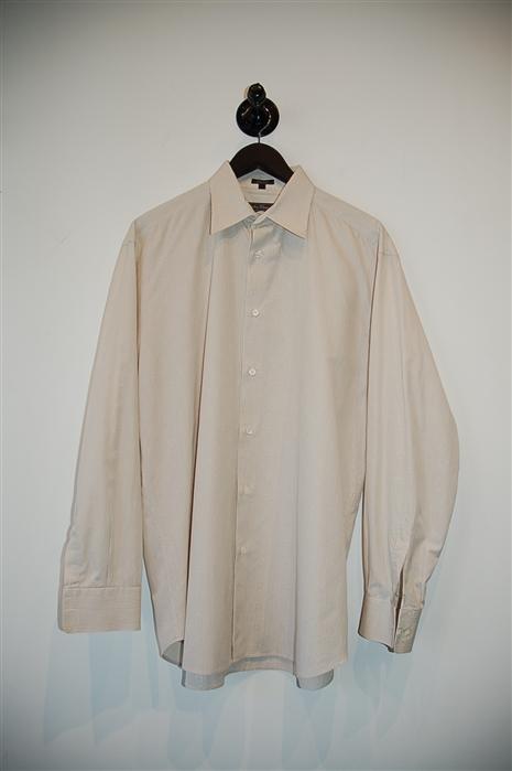 Pale Beige Salvatore Ferragamo Button Shirt, size L