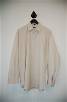 Pale Beige Salvatore Ferragamo Button Shirt, size L