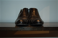 Black Leather Stephen Venezia Booties, size 11