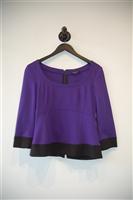 Royal Purple Nanette Lepore Zippered Top, size 6