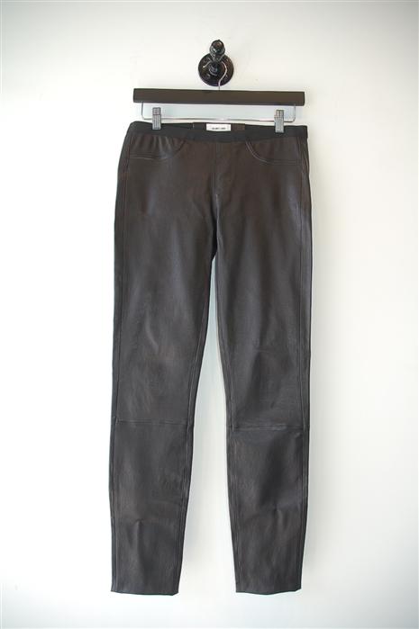 Black Leather Helmut Lang Leather Leggings, size 6