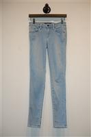 Light Denim Genetic Skinny Jean, size 25