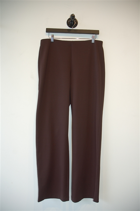 Chocolate Eileen Fisher Wide-Leg Trouser, size M