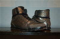Dark Silver Y-3 - Yohji Yamamoto High-Top Sneakers, size 11