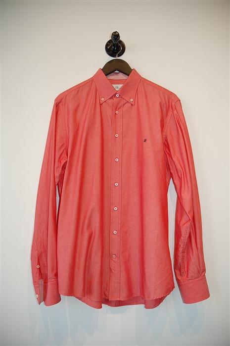 Coral Carolina Herrera Button Shirt, size L
