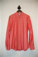 Coral Carolina Herrera Button Shirt, size L