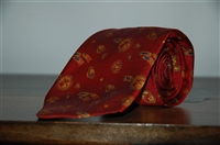 Dark Red No Label Tie, size O/S