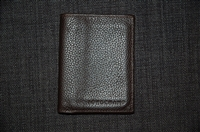Dark Leather Longchamp Wallet, size O/S
