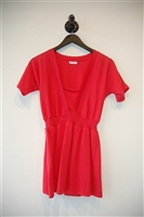 Coral Red Rivamonti Short-Sleeved Top, size M