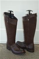 Dark Leather Corvani Boots, size 7