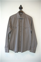 Gray Check Gucci Button Shirt, size L