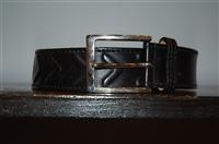 Black Leather Etro Belt, size M